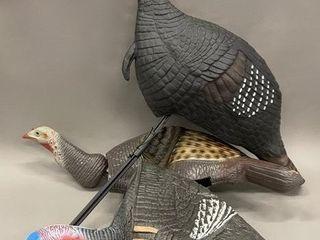 lot of 3 Turkey Hunting Decoys