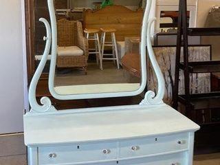 Elegant 2 Drawer Dresser with Harp Mirror