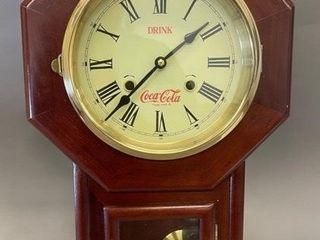 Coca Cola pendulum clock working