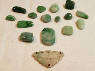 Polished Jade Stones for Jewelry Making