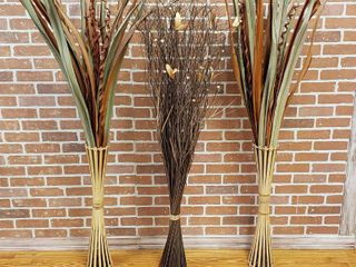 Faux Ornamental Grass   5 ft  tall   3 individual free standing   lOCAl PICKUP ONlY