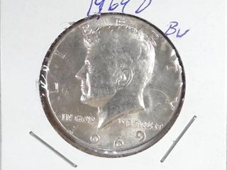 1964 D Kennedy Half Dollar  Picture Incorrect  Will replace with Equal Condition 1964 Kennedy  90