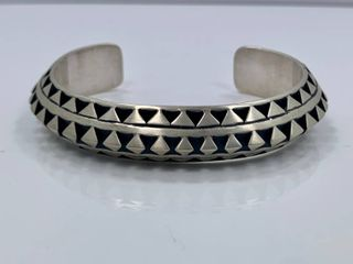 2 36 oz Sterling Silver  cut out  Cuff by leander Tahe