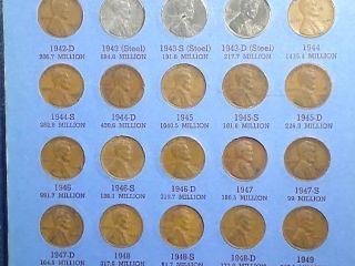Wheat Penny BOOK  69 total pennies