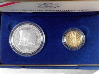 1987 US Constitution Coins   999 Gold    999 Silver