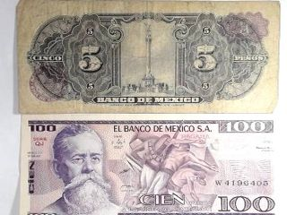 4 Mexican Banknotes