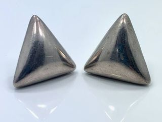 Vintage TAXCO Sterling Silver Clip on Earrings