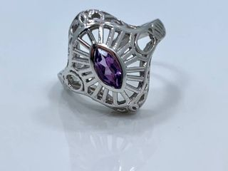 35ct Amethyst   Sterling Silver Ring