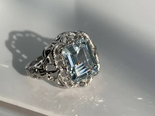 3 75ct Aquamarine Sterling Silver Ring