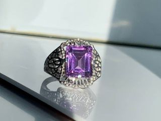 4 5ct Amethyst   Sterling Silver Ring