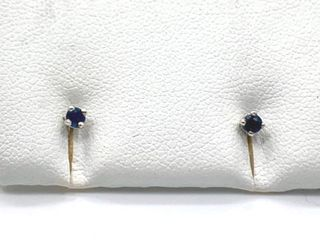 10ct Natural Blue Sapphire Earrings