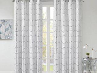 Intelligent Design Khloe Total Blackout Metallic Print Grommet Curtain Panels   Set of 2