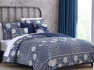 Modern Threads le Port Reversible Quilt Set   King