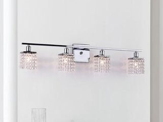 The lighting Store 4 light Chrome Crystal Wall Sconce
