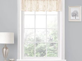Porch  amp  Den ONeil leaf Embroidered Window Valance