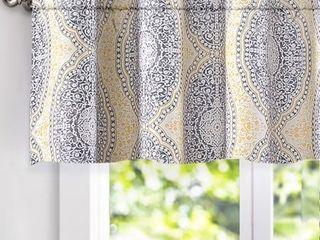 DriftAway Adrianne Damask Floral Pattern Window Valance