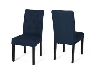 Gentry Tufted Fabric Dining Chairs by CKH   Set of 2