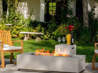 Aidan Outdoor Rectangular Fire Table by CKH
