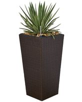 Havenside Home Quaqtaq Cubico Wicker Smart Self Watering Planter