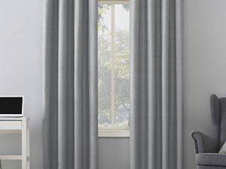 Sun Zero Duran Thermal Insulated Total Blackout Grommet Curtain Panels   Set of 2