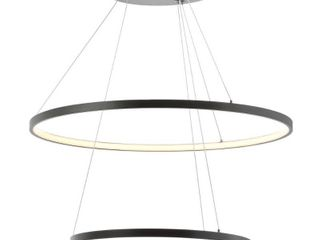 Brice Round Integrated lED Metal Chandelier by JONATHAN Y