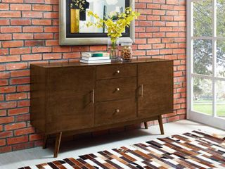 Walker Edison Mid Century Modern Wood TV Console