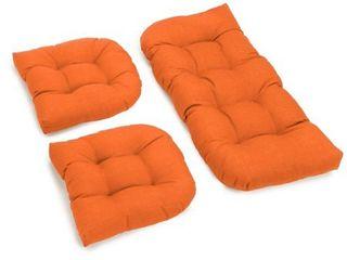 Blazing Needles Solid Settee Cushion Set
