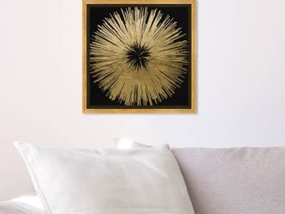 Oliver Gal Sunburst Golden Night Abstract Wall Art Framed