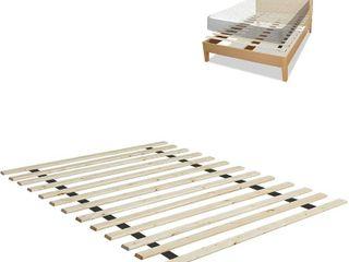 Onetan Standard Vertical Mattress Support Wooden Bunkie Board Slats   Queen