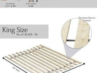 ONETAN Vertical Wooden Mattress Support Bed Slats Bunkie Board   King