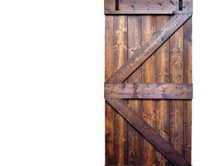 Knotty Pine DIY Paneled Wood Barn Door  amp  Installation Hardware Kit