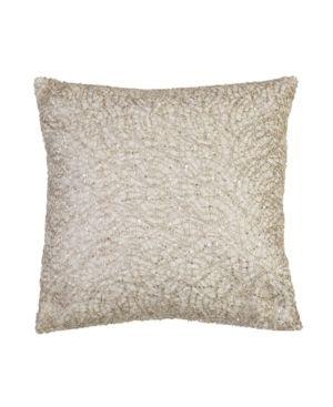 Philip lace Sequin Faux linen Pillow