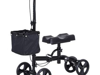 HomCom leg Knee Walker w  Storage Bag