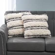 Aldine Boho Cotton Throw Pillows by CKH   Set of 2