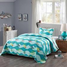 Porch  amp  Den lumbee Aquatic Quilt Set   Twin