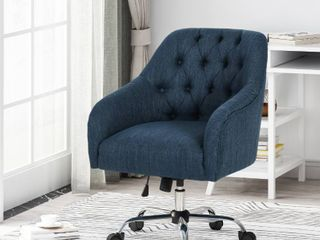 Barbour Tufted Home Office Chair w  Swivel Base by CKH
