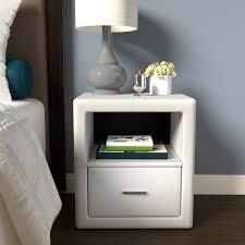 Sleep Sync lauria Faux leather Upholstered Nightstand