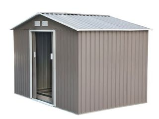 Outsunny Outdoor Metal Garden Storage Shed   IS A COMPlETE ITEM