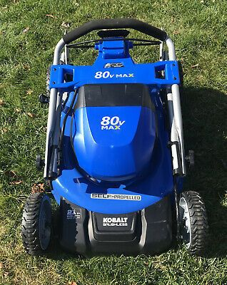 Kobalt 80V Max lawn Mower w  Bag