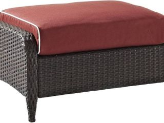 Crosley Furniture Kiawah Outdoor Wicker Ottoman