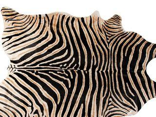 TOGO African Zebra Cowhide Rug