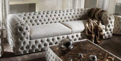 Velvet Button Tufted Sofa  INCOMPlETE ITEM
