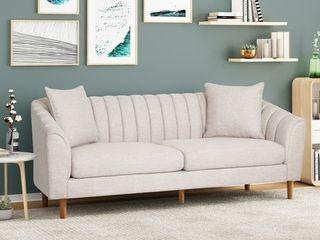 Ansonia Contemporary Fabric Sofa  INCOMPlETE ITEM