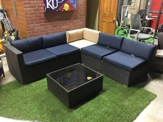 Phi Villa Outdoor Sectional w  Coffee Table