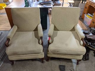 2  Chairs With Ottoman