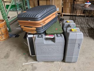 Assorted Cases  Suitcase  Tool Boxes  And Ammo Case