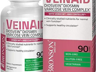 Bronson VeinAid DiosVein Diosmin Varicose Vein Complex with Venocin   Centellin  90 Vegetarian Capsules