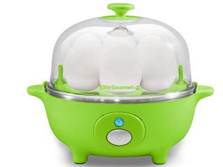 Elite Cuisine   7 Egg Automatic Egg Cooker   Green