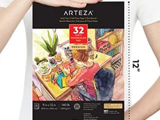 Arteza Premium Watercolor Pad  9  X 12  32 Sheets