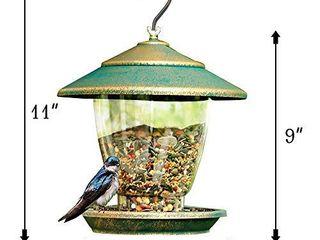 FUNPENY Bird Feeder  Panorama Gazebo Wild Bird Feeder Hanging with Bird Seeds Scoop for Garden Yard Decoration